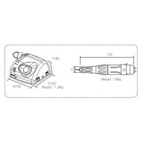 Strong 210/105L - аппарат для маникюра и педикюра в сумке с педалью