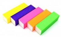 Блок шлифовальный для ногтей цветной