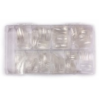 Прозрачные типсы для наращивания ногтей 100 шт.